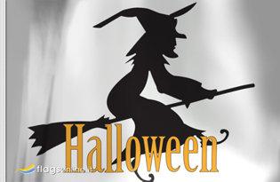 Bandiera Strega di Halloween