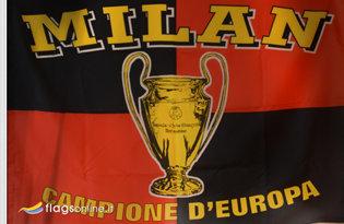 Bandiera Milan Campione Storica