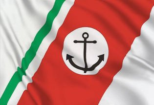 Bandiera Italia Guardia Costiera