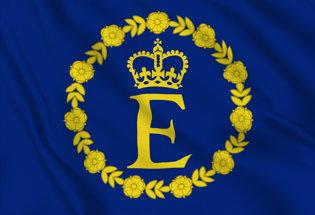 Bandiera Stendardo della Regina Elisabetta II