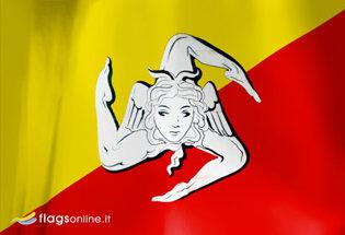 Bandiera Sicilia Trinacria