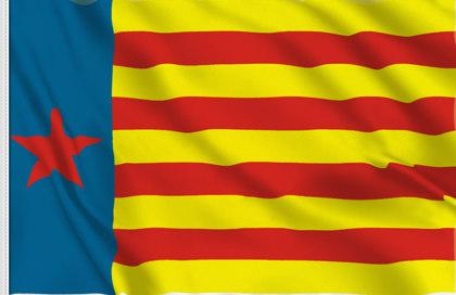 Bandiera Estelada valenciana roja