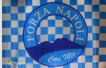Bandiera Napoli Forza Core Mio
