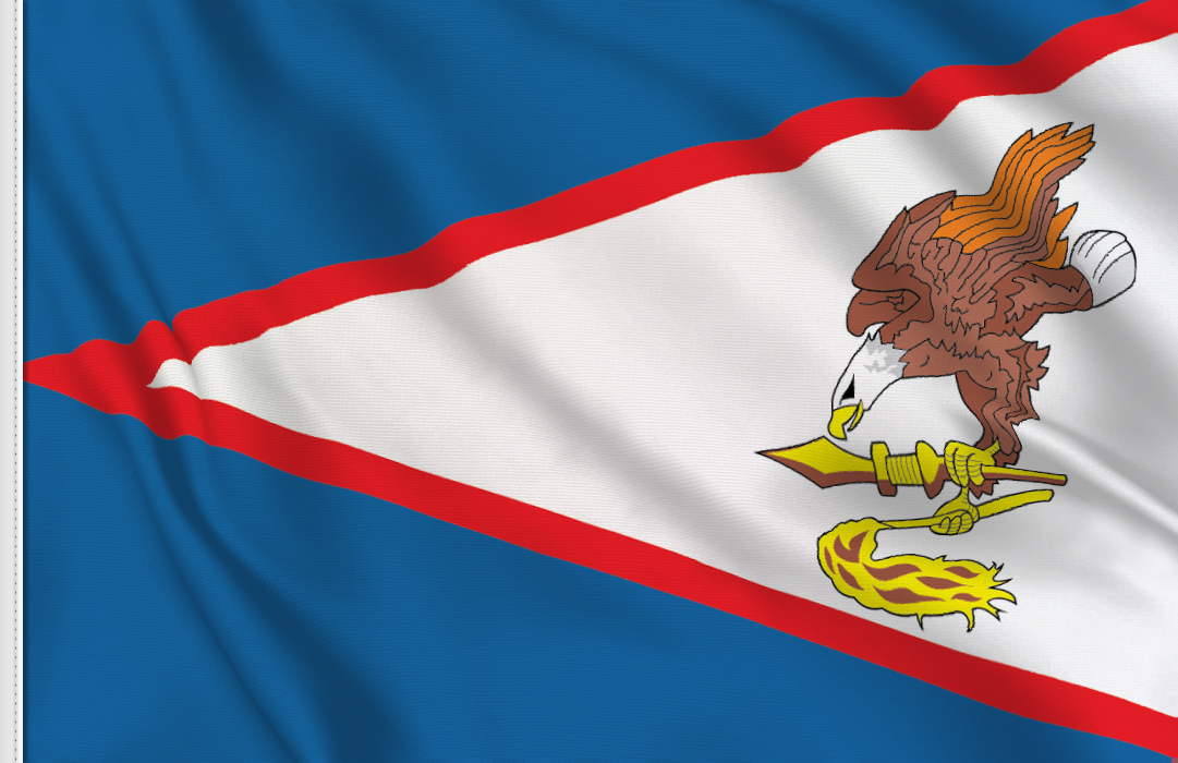flag sticker of American Samoa