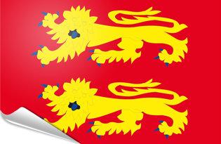 Bandiera adesiva Bassa-Normandia