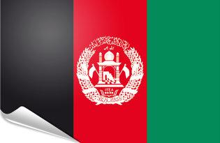 Bandiera adesiva Afghanistan