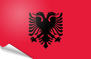 Bandiera adesiva Albania
