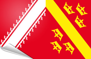 Bandiera adesiva Alsazia 1949