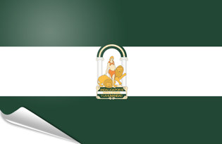 Bandiera adesiva Andalusia