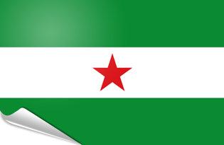 Bandiera adesiva Andalusa nazionalista