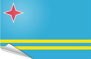 Bandiera adesiva Aruba