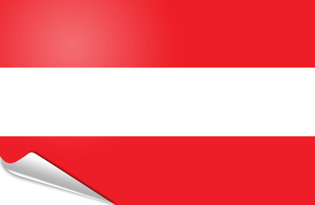 Bandiera adesiva Austria