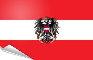 Bandiera adesiva Austria di Stato