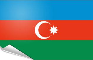 Bandiera adesiva Azerbaigian