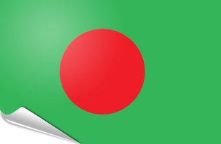 Bandiera adesiva Bangladesh