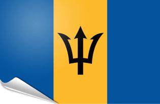 Bandiera adesiva Barbados