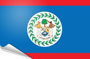 Bandiera adesiva Belize