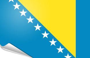 Bandiera adesiva Bosnia