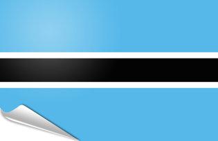 Bandiera adesiva Botswana