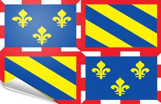 Bandiera adesiva Borgogna