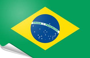 Bandiera adesiva Brasile