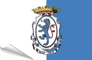 Bandiera adesiva Brescia-comune