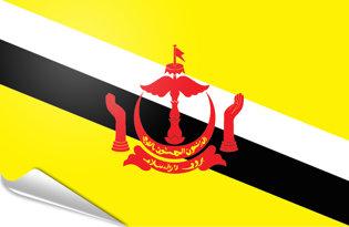 Bandiera adesiva Brunei