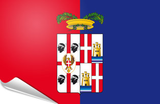 Bandiera adesiva Cagliari-provincia