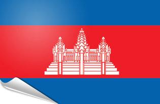 Bandiera adesiva Cambogia