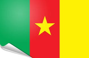 Bandiera adesiva Camerun