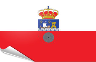 Bandiera adesiva Cantabria