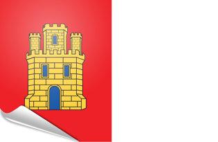 Bandiera adesiva Castiglia Mancia