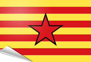 Bandiera adesiva Estelada aragonesa
