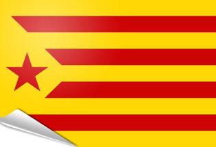 Bandiera adesiva Estelada vermella