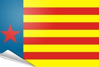 Bandiera adesiva Estelada valenciana roja