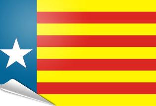 Bandiera adesiva Estelada valenciana