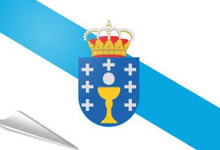 Bandiera adesiva Galizia