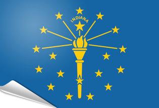 Bandiera adesiva Indiana