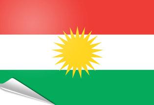 Bandiera adesiva Kurdistan