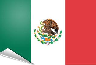 Bandiera adesiva Messico