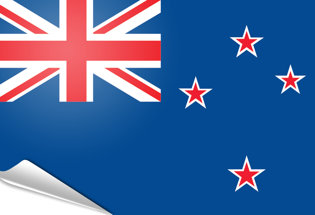 Bandiera adesiva Nuova Zelanda