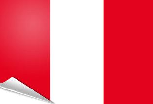Bandiera adesiva Peru