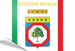 Bandiera adesiva Puglia