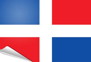 Bandiera adesiva Repubblica Dominicana