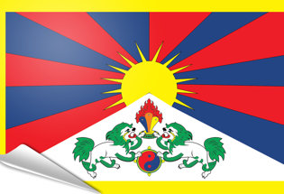 Bandiera adesiva Tibet