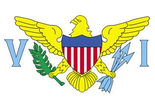 Bandiera adesiva Isole Vergini
