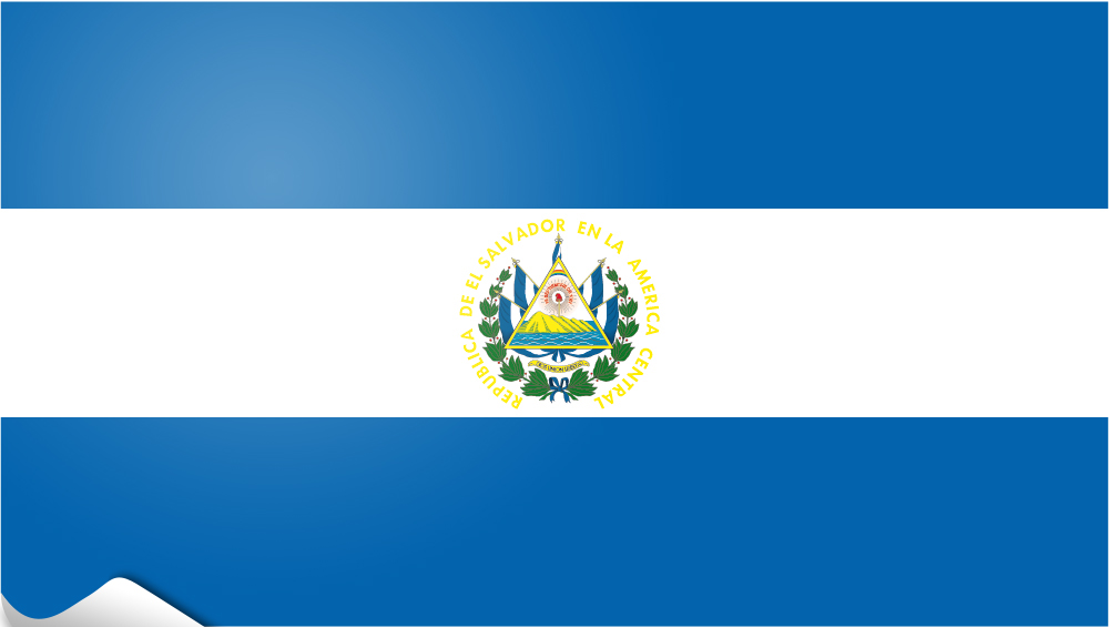 El Salvador table flag