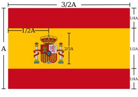 ratio bandiera spagnola