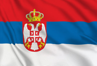 Bandiera Serbia Stato