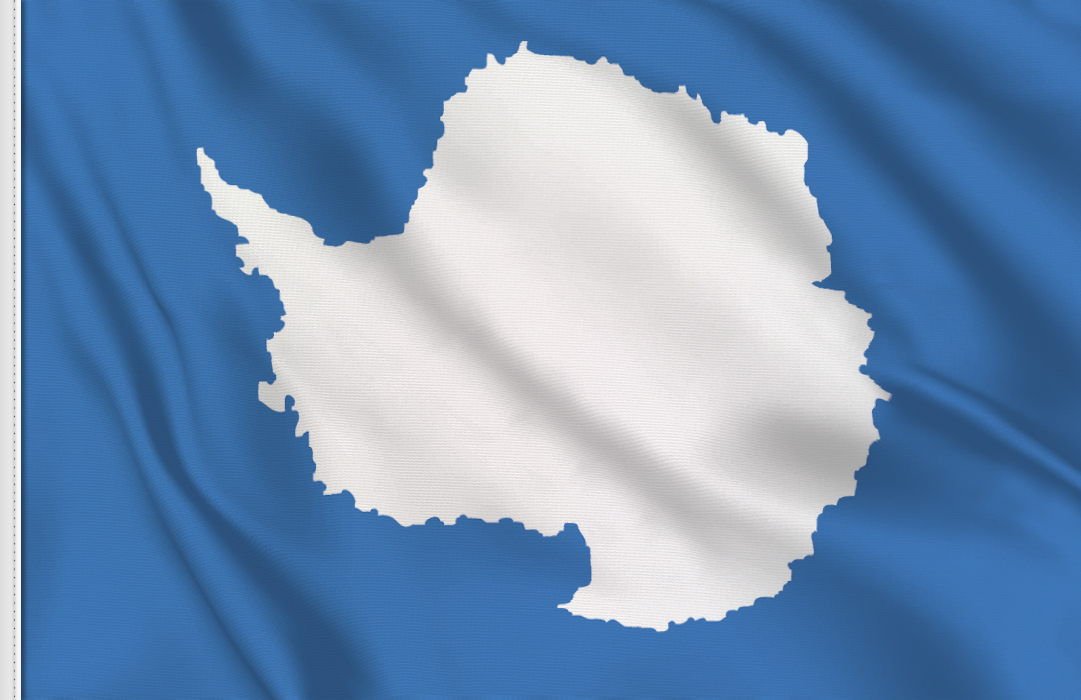 Flag sticker of Antarctica